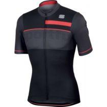 Sportful SQUADRA CORSE JERSEY čierna XL - Pánsky cyklistický dres