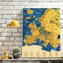 Stieracia mapa Európy Deluxe