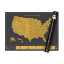 Stieracia mapa USA Deluxe (poškodený tubus)