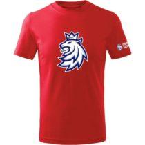Střída LOGO LEV CIHT červená 153-164 - Detské tričko