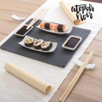 Sushi sada s bridlicovým podnosom (11 častí)