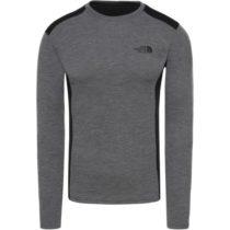 The North Face EASY L/S CREW NECK šedá L - Pánske tričko s dlhým rukávom