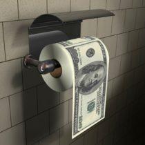 Toaletný papier 100 dolárov