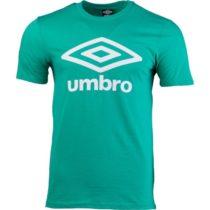 Umbro FW LARGE COTTON LOGO TEE tmavo zelená XL - Pánske tričko