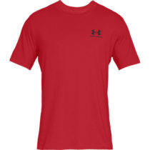 Under Armour SPORTSTYLE LEFT CHEST SS červená XL - Pánske tričko