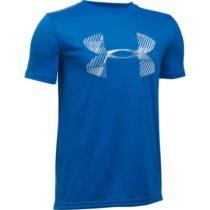 Under Armour COMBO LOGO SS T modrá S - Chlapčenské tričko