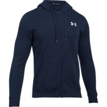 Under Armour RIVAL FITTED FULL ZIP tmavo modrá L - Pánska mikina