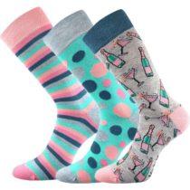 Voxx S-BOX dámska 3pack modrá 26-28 - Dámske ponožky