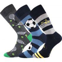 Voxx S-BOX pánska 3pack modrá 26-28 - Pánske ponožky