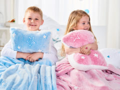 Detský hrejivý set Warm Hug Dormeo, 130x190 cm, modrá