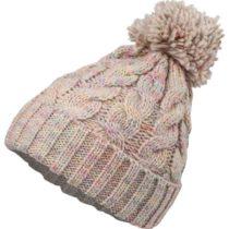 Willard BAMBU béžová  - Dámska pletená čiapka s brmbolcom