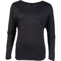 Willard ROLLA čierna M - Dámske tričko s dlhým rukávom