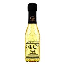 Zlaté šumivé víno 23 karát 0,2 l Narodeniny 40