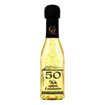 Zlaté šumivé víno 23 karát 0,2 l Narodeniny 50