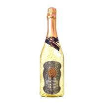 Zlaté šumivé víno 23 karát 0,75 l Narodeniny 30 - kovová etiketa