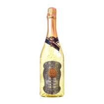 Zlaté šumivé víno 23 karát 0,75 l Narodeniny 40 - kovová etiketa