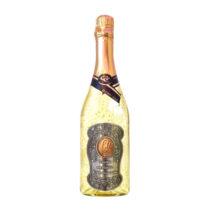 Zlaté šumivé víno 23 karát 0,75 l Narodeniny 60 - kovová etiketa
