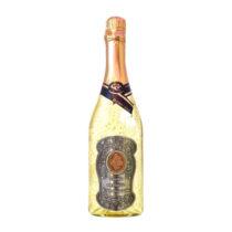 Zlaté šumivé víno 23 karát 0,75 l Narodeniny - kovová etiketa