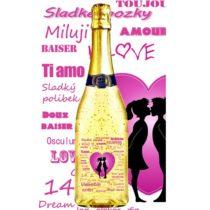 Zlaté šumivé víno 23 karát 0,75 l Valentine